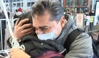 İstanbul Havalimanı'nda 10 yıl sonra kızına kavuştu(video)