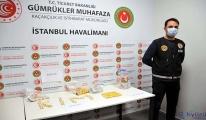 İstanbul Havalimanı'nda uyuşturucu yakalandı(video)