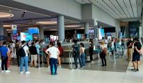 İstanbul Havalimanı'nda bayram tatili dönüşü(video)