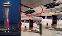 İstanbul Havalimanı'nda tavan çöktü!video