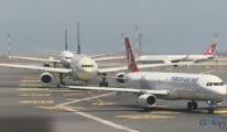 İstanbul Havalimanı'nda uçaklar kuyruk oldu!