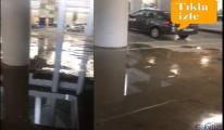 İstanbul Havalimanı otoparkını su bastı