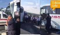 İstanbul havalimanı uyuyan şoförü kaza yaptı!