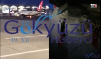 İstanbul Havalimanı'nda THY uçağı alev aldı!video