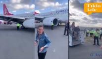 İstanbul Havalimanı'nda Uçak toprak zemine daldı!
