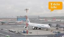 video İstanbul Havalimanı'nda yağmurlu gün!