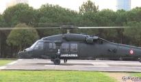 Jandarmadan helikopterle kısıtlama denetimi