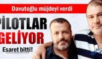 Kaçırılan THY pilotları Türkiye'ye hareket etti