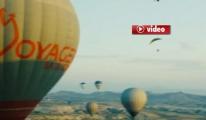 Yamaç Paraşütleri Kapadokya'da nefes kesti video