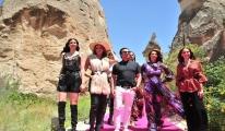 Kapadokya'da ünlü mankenler#video