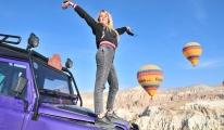 Kapadokya'ya yabancı turist akını#video