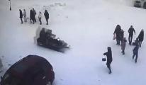 Kar aracı 11 yaşındaki çocuğu böyle biçti(video)