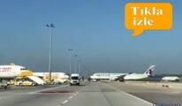 Katar'ın yeni uçağı A350-900 Sabiha Gökçen'de