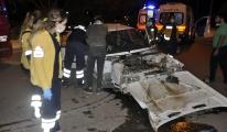 Kazada yaralandı kameralara, babasının kızacağını söyledi