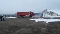 Kazakistan'da An-26 tipi uçak düştü: 4 ölü(video)