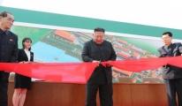 Kim Jong-un fabrika açılış yaptı