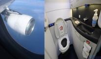 Kısa uçuşlarda tuvaletleri kullanmayın