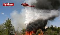 KKTC'deki yangına İngiliz helikopterlerinden destek video