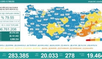 Koronavirüs salgınında günlük vaka sayısı 20 bin 33 oldu