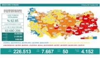 Koronavirüs salgınında günlük vaka sayısı 7 bin 667 oldu