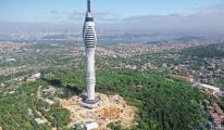 Küçük Çamlıca TV-Radyo Kulesi inşaatında yangın çıktı.