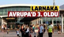 Larnaka Havalimanı Avrupa'da 3.Oldu