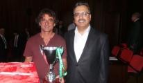 THY'nin Şampiyon U-16 Takımı Başkanını Kupayla Uğurladı