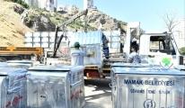 Mamak'ta  çöp konteyneri yenileniyor