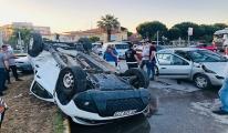 Manisa'da 3 araçlı zincirleme kaza