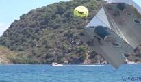 Marmaris'te deniz paraşütü kazası(video)