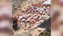 Maske zorunluluğunun kalktı halk plajlara akın etti(video)