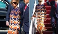Melania Trump'ın 3 bin 700 dolarlık elbisesi dikkat çekti