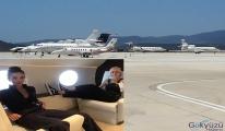 Milas Havalimanı özel jetlerle doldu....
