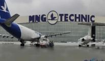 MNG'ye ait bir merdiven THY uçağına çarptı