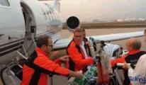 'Muhammet Bebek' özel uçak ile Türkiye'ye yola çıktı
