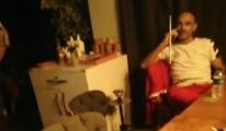 Nargile keyfi yaparken yakalandılar(video)