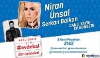 Niran Ünsal'ın çağrısı '#EvdeKal#MüzikleKal' için