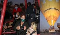 Nuray, Ürgüp semalarında balonla uçtu(video)