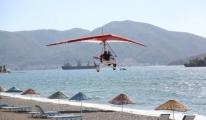 Motorlu yamaç paraşütü Turizm Bölgelerine Renk Katıyor