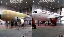 Uçağın Muhteşem Değişimi /VİDEO