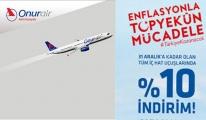 Onur Air de yüzde 10 indirimle uçuracak!