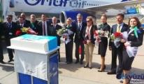 Onur Air Gazipaşa'ya ilk uçuşunu yaptı
