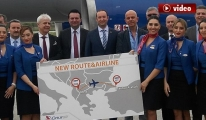 Onur Air, Ohrid'e ilk uçuşu 180 yolcuyla yaptı! video