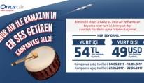 Onur Air Uçak Bileti 10 Mayıs'a Kadar 54 TL