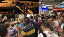 Onur Air'in rötarı yolcuları çıldırttı!