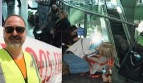 Pegasus rötar yapınca havalimanında sabahladı!