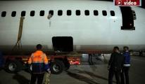 Pegasus uçağı bu sefer karadan gitti!video