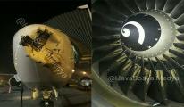 Pegasus uçağı büyük tehlike atlattı!