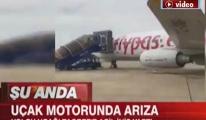 Pegasus uçağında 'duman ikazı' paniği!video