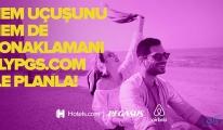 Pegasus'tan Hotels.com ve Airbnb iş birliği